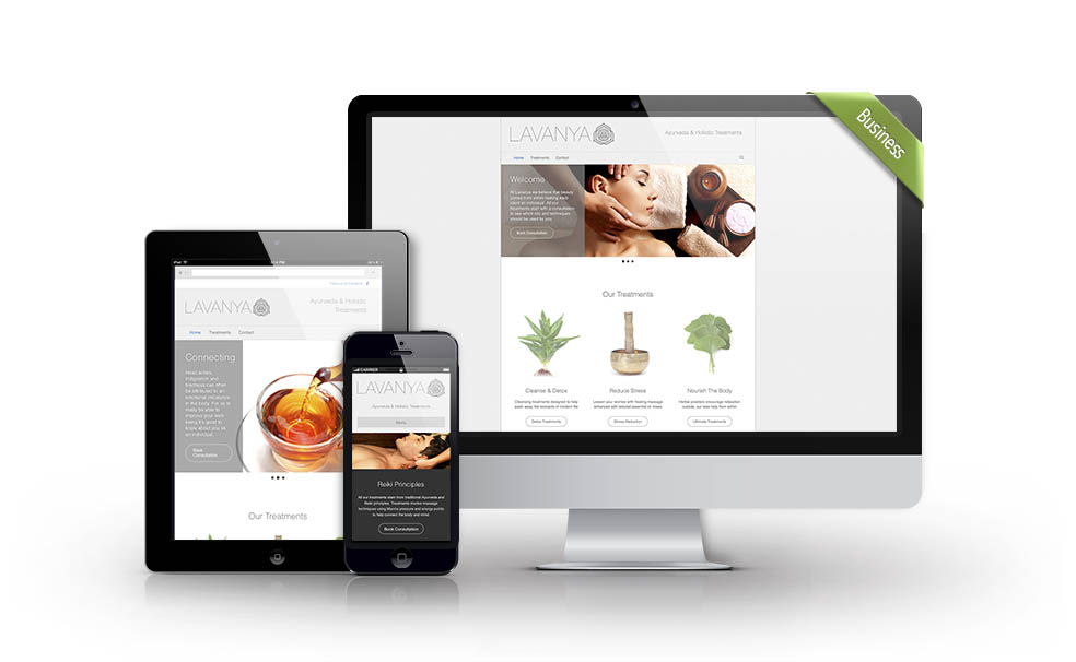 Lavanya website design from Webwalrus